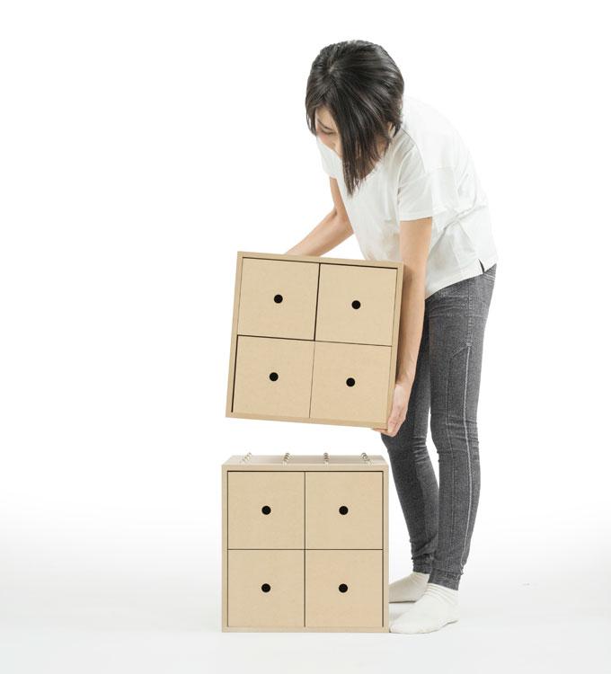 移動や配置替えが簡単です。