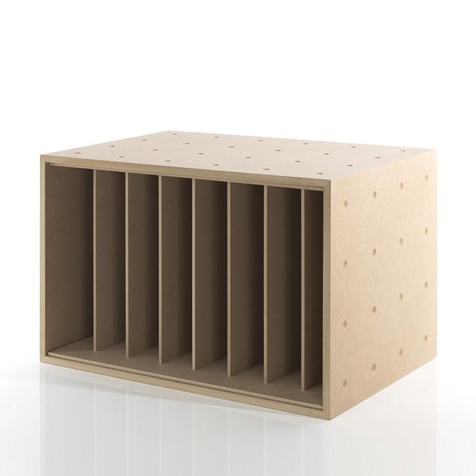 【楽天市場】本・雑誌収納ボックス 仕切り付き 木製(本棚 カラーボックス ストレージボックス キューブボックス