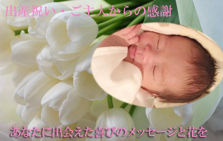出産祝いの花
