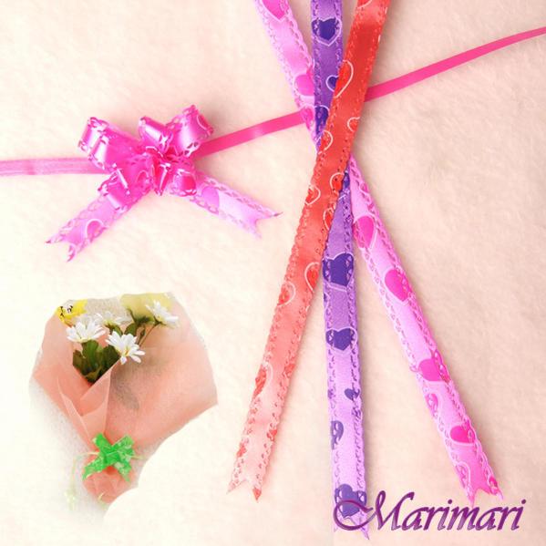 一触式丝带 10 片套蝴蝶船头 minigiftflower 粉红色,紫色,红色