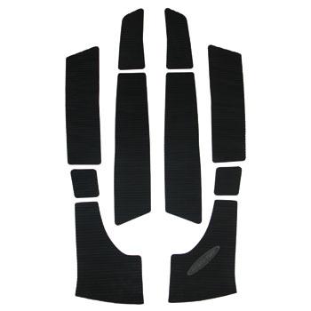 HYDRO-TURFデッキマットキット(テープ付き)KAWJS300/440/5505PCSCutGrooveブラック
