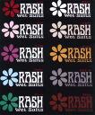 RASH ラッシュフラワー sticker colors 10 / ラッシュウェット suit surfing fs3gm