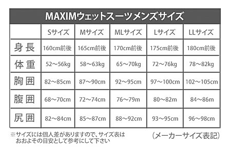 MAXIMWETSUITマキシムメンズフルスーツ5/3.5mmCOMBITIPZIPノージップマリーナモデル