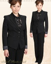 Trouser suit! Deep-discount Lady's! A suit worn for a job interview or important occasion! How about to a job hunting fresh suit uniform?  3 button A8803