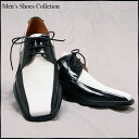 ★★  Gentleman shoes white & black shoes 24.0cm - 28.5cm 3E heel 3cm straight tip shoes combination black and white combination 7756