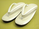 The outside that is targeted for sandals urethane sandals woman enamel off-white base white clog thong large size ≪ sale≫