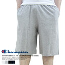"Champion and champion ~ cotton ~ half ""plain"" basic sweatpants"