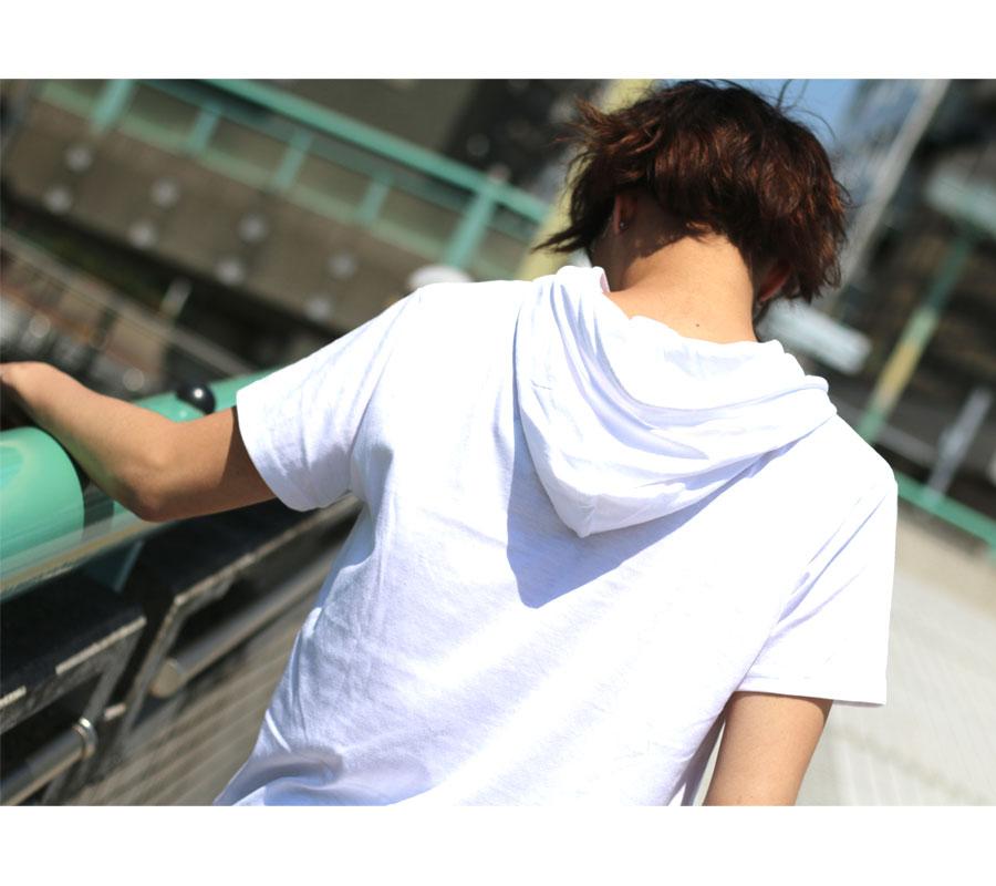 t恤男子的总花纹标识印刷parker短袖