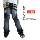 EDWIN / Edwin XVS-XVS] flap zip tapered denim (dark blue)