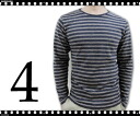 36% OFF Rakuten ranking winning prize! GRAND LEAF/ 杢 horizontal stripe crew neck long sleeves T-shirt