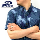 "PIKO / p 101425504-ripple material-1 color! ""Hawaii' cool! Button-down Aloha shirt"