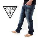 GUESS and guess M41A041GKD0DWA-denim ~ full color! Regular straight denim ( dark blue)