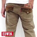 "EDWIN / Edwin XVS403-114-slave denim material-series 4 colors! ""Exclusive Vintage"" a ""XV"" flap regular straight denim (Beige)"