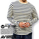 "AVIREX / avirex 6143408-stretch Telecom materials-6 colors! ""MILITARY WEAR"" border pattern long sleeved t-shirt [marukawa and specialty stores and brand clothes / Shin"