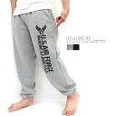 Popular sweat pants men's Airforce military had warm backing brushed pants Beaumere Balmer