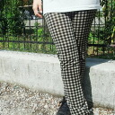 60% OFF mesh-like leggings gingham checked pattern