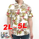 Large size men's Aloha shirt rayon