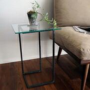 クロテツ SUMI ガラスサイドテーブル