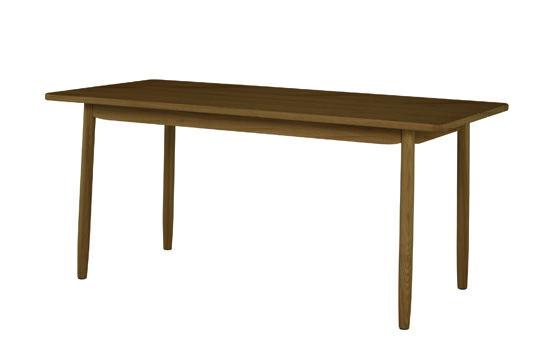 ソーサー ダイニングテーブル160 ブラウン