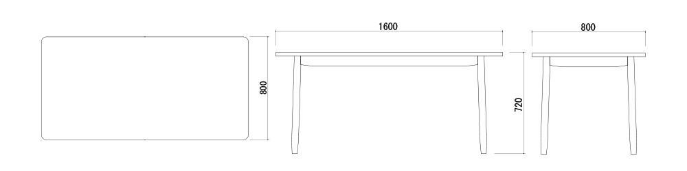 ソーサーダイニングテーブル サイズ
