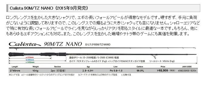 ヤマガブランクス・Calista TZ NANO