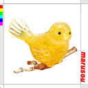 ★ Crystal puzzle yellow bird 3D three-dimensional transparent puzzle, brain, Interior objects