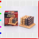 ★ cubic line-4 Tic-Tac-Toe wooden puzzles, brain, Interior and wooden games