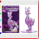 ★Crystal gallery Dizzy duck 3D solid transparence puzzle, brain, interior art object disney