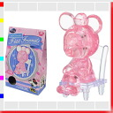 ★ クリスタルギャラリープチフレンズ Minnie mouse pink 3D three-dimensional transparent puzzle, brain, and interior art Disney