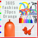 ★ Twisters 360 S fashion, Orange, 20 party novelties and balloon, balloons, balloon art and decoration