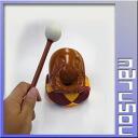 ポクポク fish-shaped wooden drum