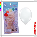 Party toy balloons, balloon art, decorative ★ balloon palette, round, 11-inch diamond clear