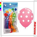 Party toy balloons, balloon art, decorative ★ balloon palette and prints, and 11-inch ビッグポルカドッツア sort PJ379