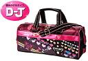 -Art bag / Ribbon-elementary school for paint set bag girl pink & black glitter heart school materials