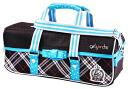 ★ art bag / check ★ elementary school paint set bag girl cute black light blue polka dot school materials