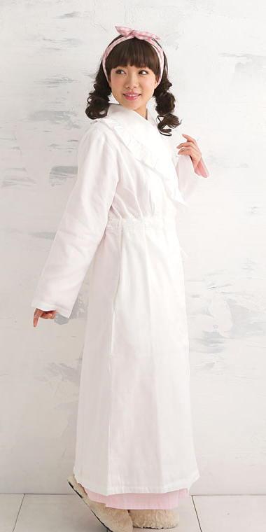 綿100% 無添加コットン ガーゼ!フリル付きバスローブ