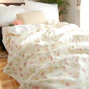 Circle washing OKfs3gm fast-dry in one of the wonderful cream Irishman Rose floral design gauze blanket * single 140*210cm allergic sensitive skin atopy