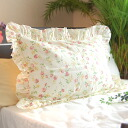 """Lovely ruffled ivory Irish rose floral gauze pillow covers * 43 x 63 cm all season sleeping in macracoverpyrro cases allergic sensitive skin atopic absorbing sweat drying, WASHABLE """"made in Japan"""" P06Dec14"""