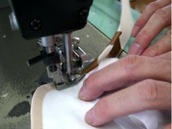 バイアステープ縫製