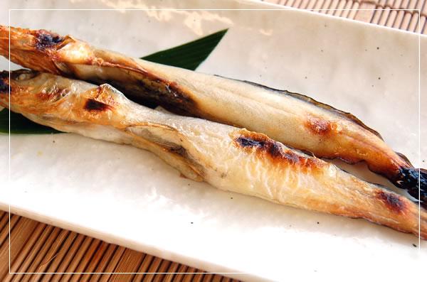珍魚ドギを干して焼きました