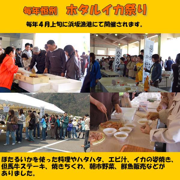 毎年4月に浜坂港にてほたるいか祭りが催されます