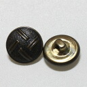 15 mm dome-shaped metal buttons vintage.