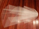 Wedding Veil medium veil face up 60x140cm original off white milk white with pearl