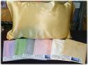 실크 베개 커버 (끈으로 매는 타입) 고품질 중국제 실크 새틴 실크 원단을 사용. 끈으로 매는 프리 사이즈 큰 70cm×53cm 실크 효과로 편안한 숙면 ~ ♪ 소재 Silk100% 선물 포장 무료