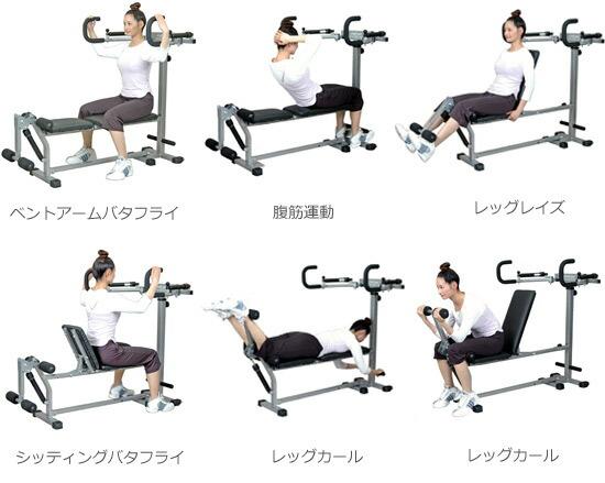 トレーニングマシンの運動例