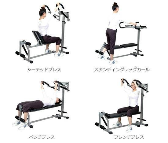 トレーニングマシンの運動例その2