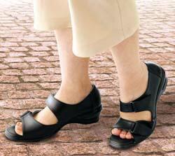 歩きやすく疲れにくいウォーキング用健康サンダル