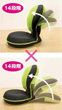 美姿勢座椅子のポイントは背中クッションが90度に曲がる事