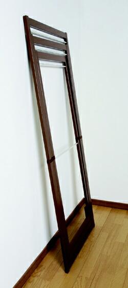 折りたたみ物干しの木製室内物干し3連