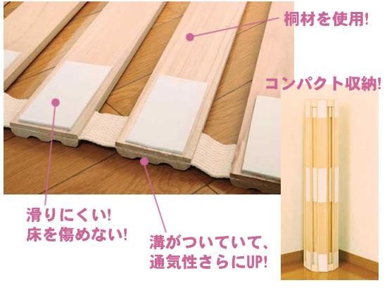 折りたたみすのこベッドの特徴